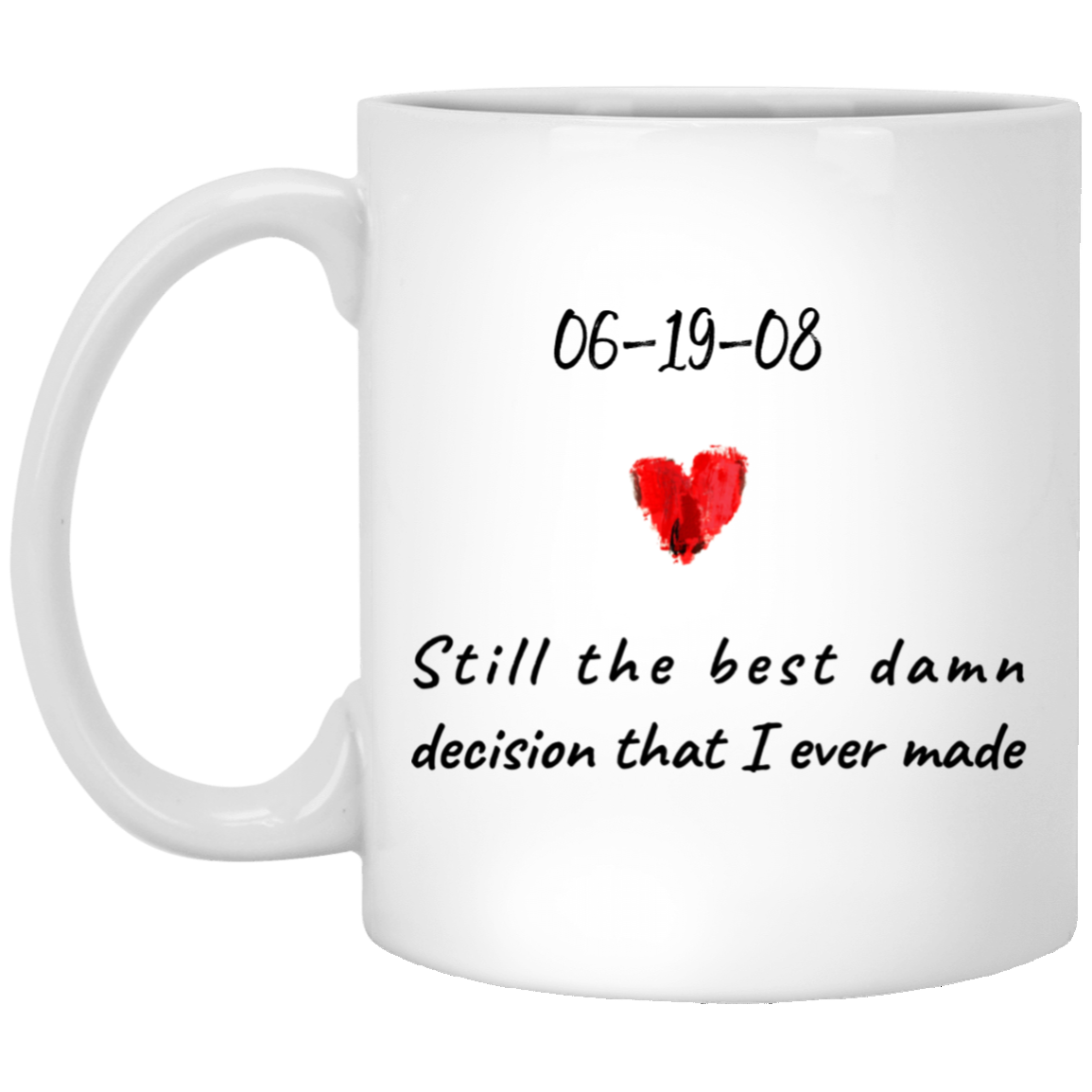 To My Wife - Best Decision Ever - Personalized Mug