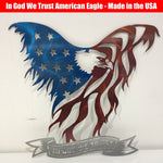 American Eagle Metal Wall Art (USA Made)