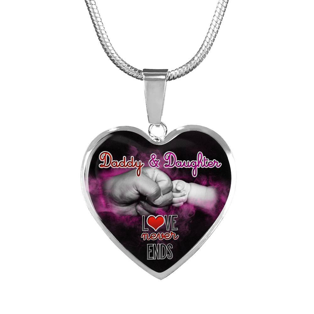 Daddy & Daughter - Love Never Ends - Bangle & Necklace - Need This Please