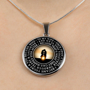 To My Wife - Happily Ever After Sunset - Necklace