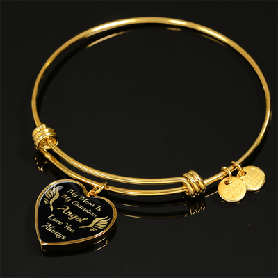 To My Mom - Guardian Angel - Gold Bangle