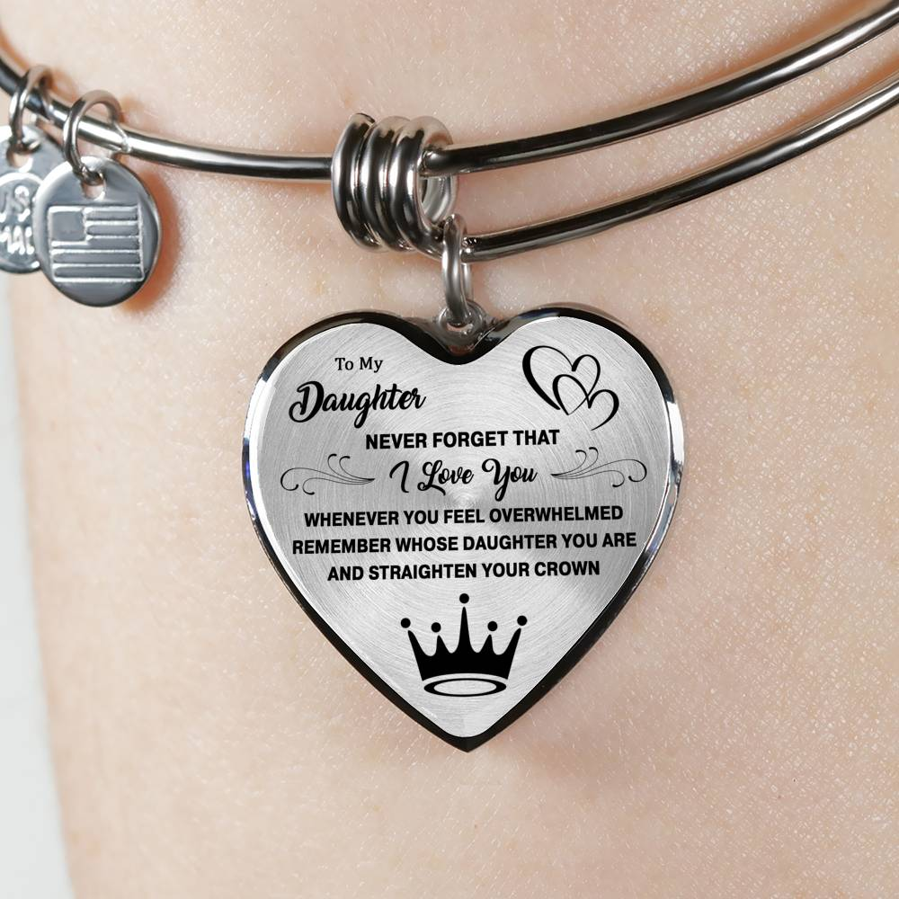 Straighten Your Crown - Heart Bangle