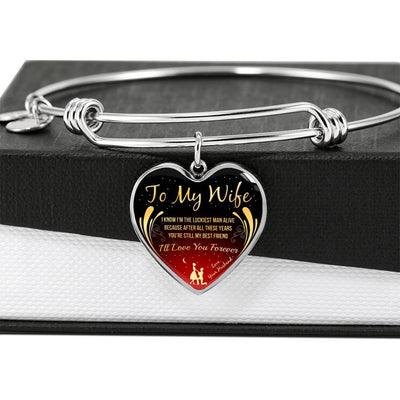 To My Wife - Luckiest Man Alive - Bangle
