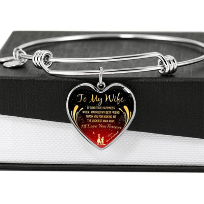 To My Wife - Found True Happiness - Bangle