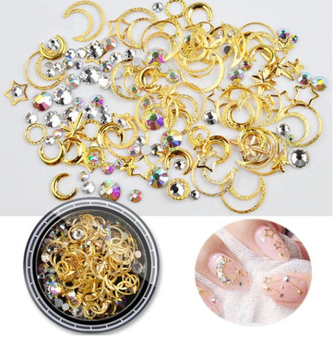 1pc Gold Silver Rivet Nail Art Decorations