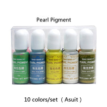 Load image into Gallery viewer, 10pc Set Pearl Color Resin Pigment Dyes