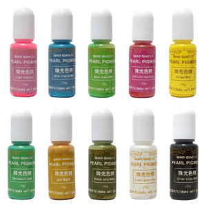 10pc Set Pearl Color Resin Pigment Dyes