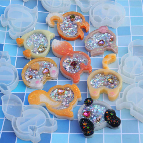 Animal butt Resin Shaker Silicone Molds