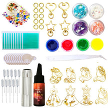 Load image into Gallery viewer, DIY Resin princess charms making kit, Resin Jewelry kit