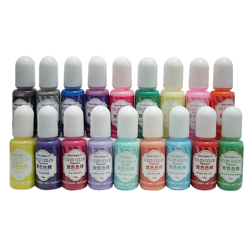 18pc set of Pastel Resin Pigment Color Dyes, Solid Opaque colors