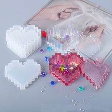 Load image into Gallery viewer, Pixel Heart Storage Box Silicone Mold
