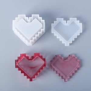 Pixel Heart Storage Box Silicone Mold