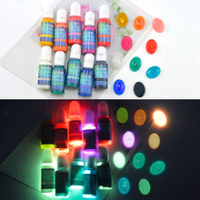 Load image into Gallery viewer, 10pc set glow in the dark resin pigment dye