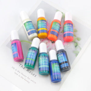 10pc set glow in the dark resin pigment dye