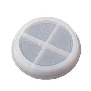 Moon and Star imprinted Silicone Dish Plate Molds