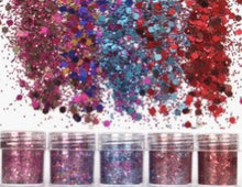 Load image into Gallery viewer, 5 bottles of Colorful Glitter