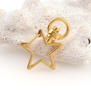 5pcs Star or Heart Keychain Hook
