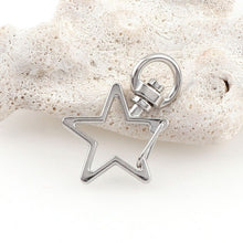 Load image into Gallery viewer, 5pcs Star or Heart Keychain Hook