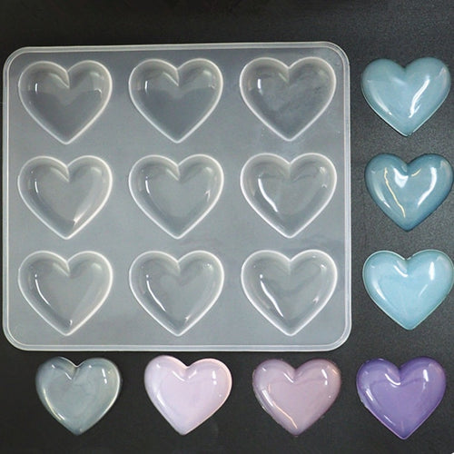 Shiny Heart Silicone Mold