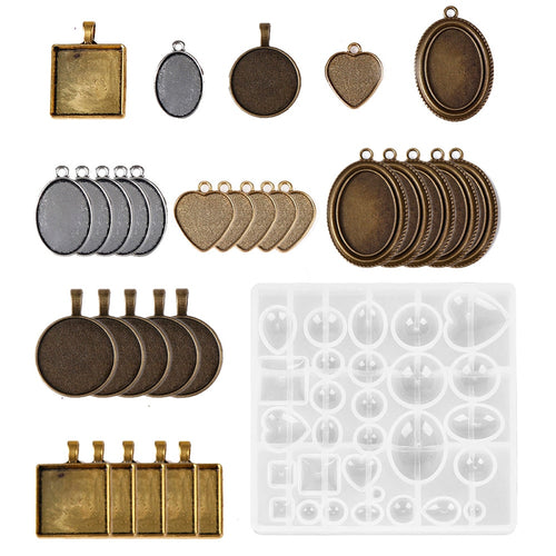 31pc Charm Jewelry making kit