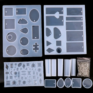 14pc Silicone Mold Craft Kit with Eye Pins
