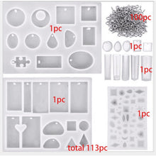 Load image into Gallery viewer, 14pc Silicone Mold Craft Kit with Eye Pins
