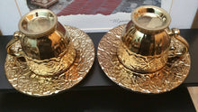 Gold tea ,coffee set enhance any room in the house