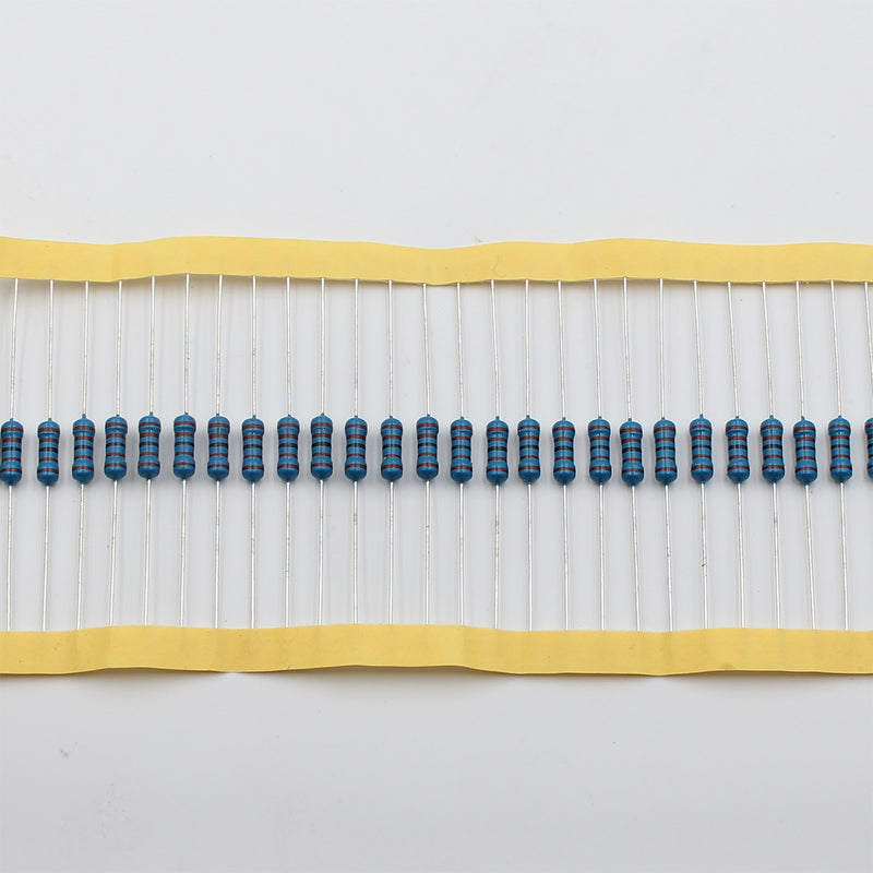50pcs 1/2W Metal Film Resistor 12KΩ - 100KΩ, 1% tolerance, 0.5W