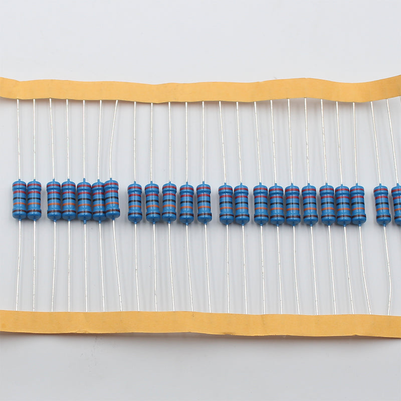 20pcs 1W Metal Film Resistor 1.2Ω - 10Ω, 1% tolerance