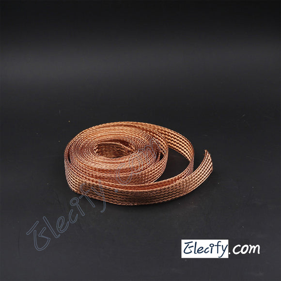 1m 3.3ft, 22mm Flat Copper Braid cable,Bare copper braid wire, ground lead