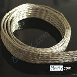 1m 3.3ft 22mm Flat Tinned Copper Braid cable,tin plating copper shield tube