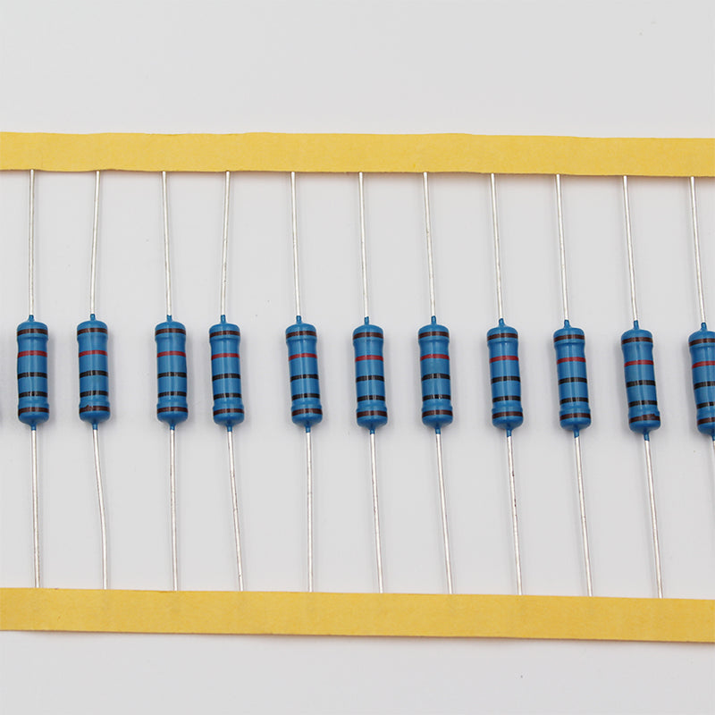 20pcs 2W Metal Film Resistor 12KΩ - 100KΩ, 1% tolerance