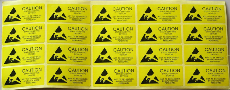 20pcs caution anti static label,anti static stick,ESD label