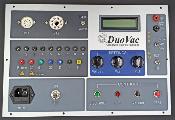 Vacuum tube tester, Duokit 2 with front panel