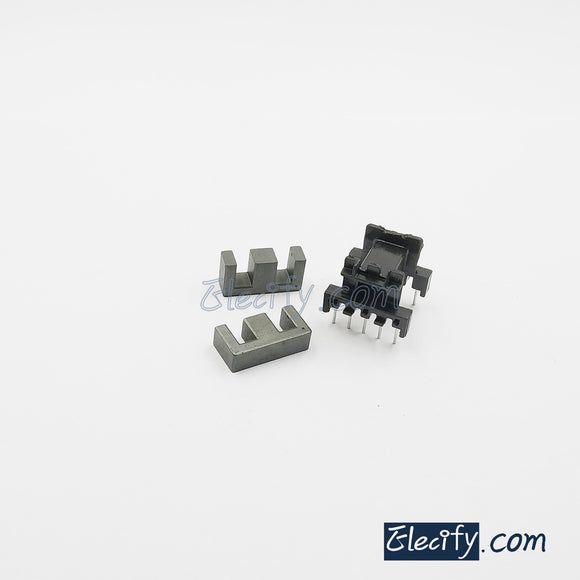 2set EF20 horizontal 5+5pins Ferrite Cores and bobbin, transformer core, inductor coil