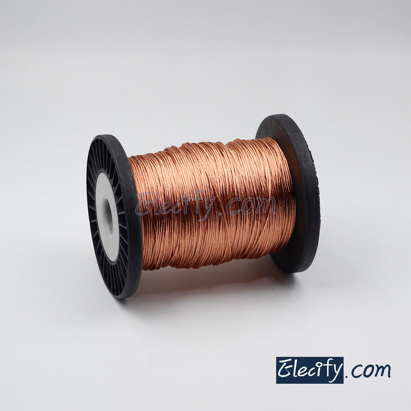 1m 100/38AWG, 100 strands x 0.1mm multi-strand twisted enamelled wire