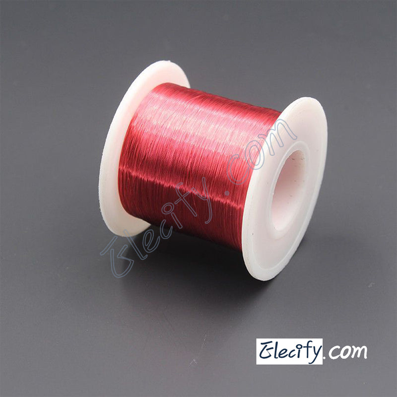 Red color Enameled wire 100g 40AWG, 0.08mm, Enameled copper wire, Magnet Wire