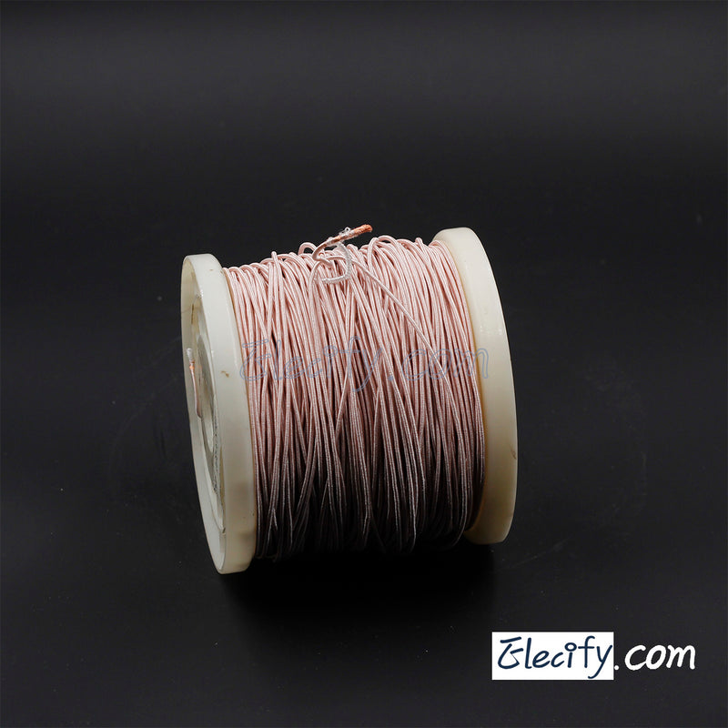 1m LITZ WIRE 300/44AWG, 300 strands x 0.05mm