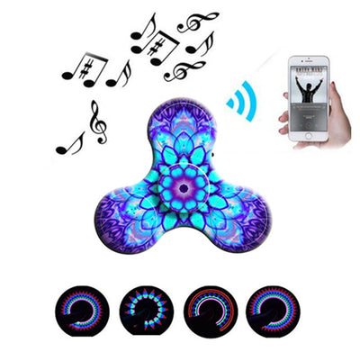 Amazing 3D Design LED Mini Bluetooth Speaker Music Fidget Spinner - FidgetSpinners.com