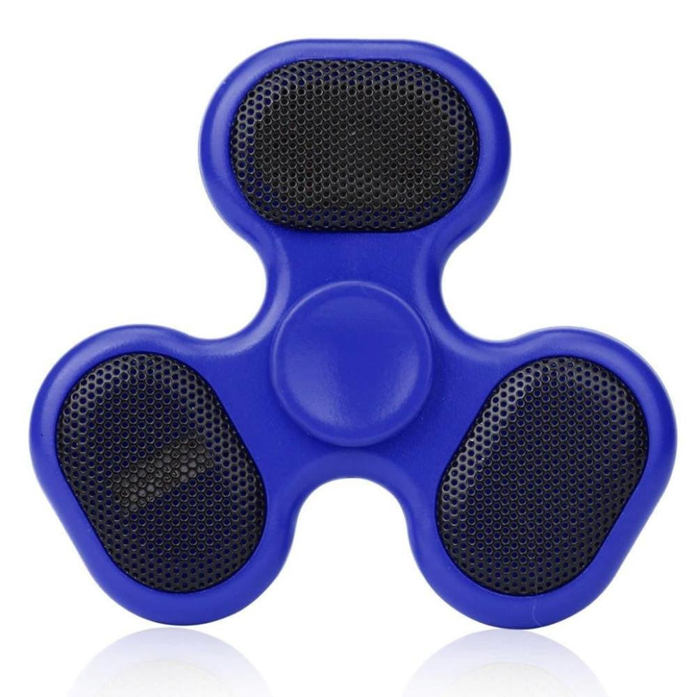 LED Speaker Fidget Spinner with SD Card Slot and USB Rechargeable Music Player