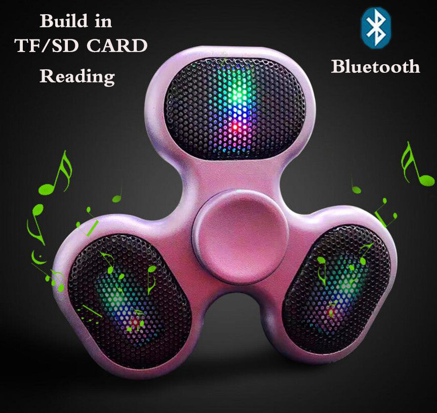 LED Speaker Fidget Spinner with SD Card Slot and USB Rechargeable Music Player - FidgetSpinners.com