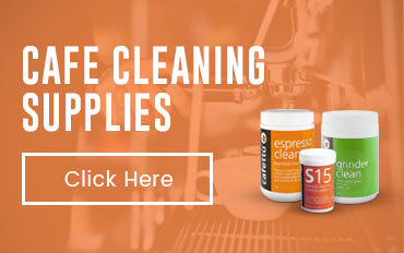 Cafe cleaning supplies banner