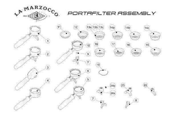 Portafilter Spout, Double, La Marzocco Adjustable Genuine
