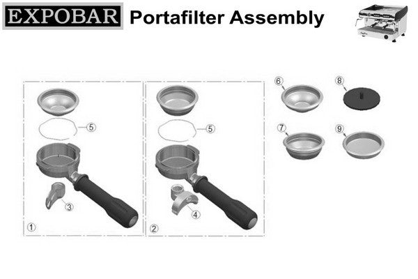 Portafilter, Iberital Single Genuine