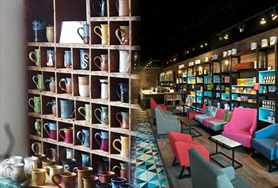 Coffee Shop Furniture and Mugs
