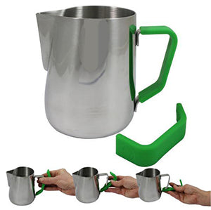 Milk Pitcher with Green Handle