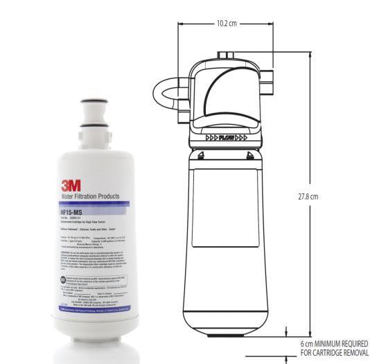 3M HF15-MS Replacement Water Filter, High Flow Series, Water Filter, 3M - Barista Warehouse