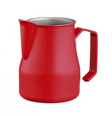 Motta Europa Milk Jug 750ml - Red, simple, Motta - Barista Warehouse