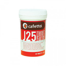 Cafetto J25 Tablets 2.5g - Jar of 40, simple, Barista Warehouse - Barista Warehouse