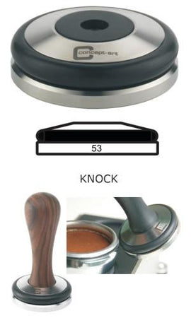 Concept-Art Coffee Tamper Base, 53mm Stainless, Knock Flat, Tamper, Concept-Art - Barista Warehouse